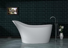 Solid surface artificial stone bathtub BS-S19