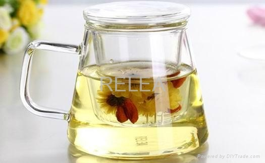 New Item Glass Cup With Filter And Lid 2