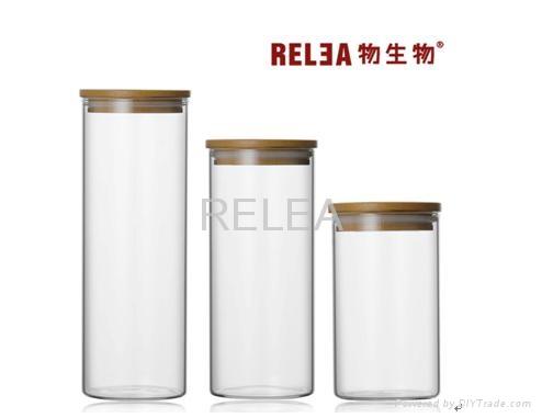 High Clear Glass Food Storage Jar 1