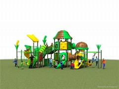 戶外遊戲中心儿童滑梯組合