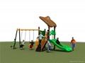 Outdoor kids playground slide
