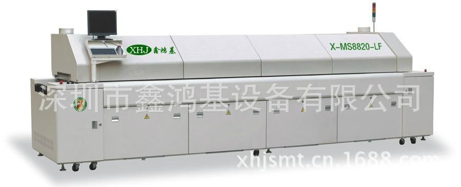 中大型电脑无铅8温区回流焊锡机 1
