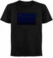 EL sound activated t-shirt