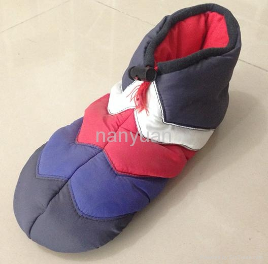 Patched polyester fabric with filling indoor boots slipper for women 36-41 2