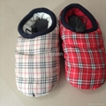 Plaid polyester fabric with filling