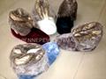 Flannel with faux rabbit fur women indoor boot slipper 36-41 3