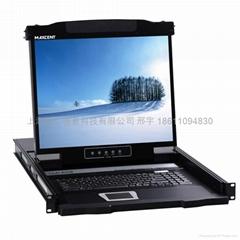 19寸8口直流供電LCD KVM液晶直流供電