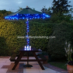 17m 100LED Blue Solar LED Fairy Light
