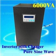 6KVA UPS 4000W Inverter with Charger Pure Sine Wave DC 48V 96V AC 230V LCD