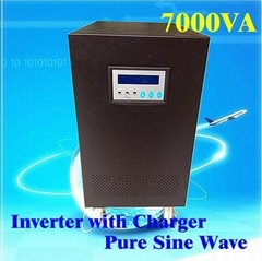 5000W Inverter with Charger Pure Sine Wave DC 192V 7KVA on Line UPS no Battery