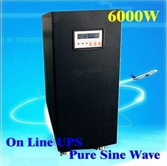 Inverter with Charger Pure Sine Wave 6000W UPS DC 192V AC 230V LCD display