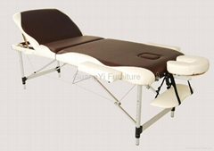 3-section 2-colors aluminum portable adjustable massage table