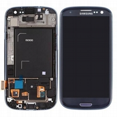 White LCD Screen and Digitizer with Front Housing for Samsung I9300 Mobile Phone