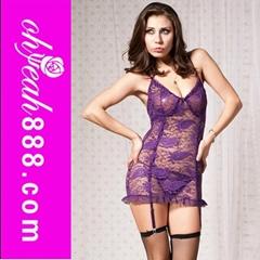 New Style Women Satin Lace Sleepwear Sexy Underwear Sexy Lingerie