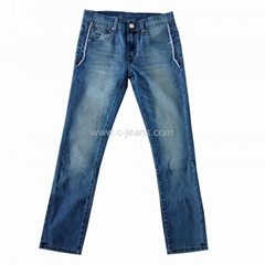 White Wash Jeans Pants  Popular Blue Colour Fashion Design for 2014 Jeans