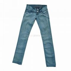 Wholesale Peru Denim Jeans Women Stretch Skinny Denim Jeans