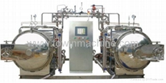 Hot water circulation sterilization