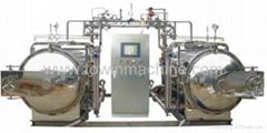 Hot water circulation sterilization