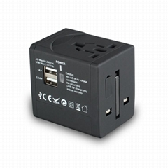 2014 LONGRICH travel adapter with Double USB