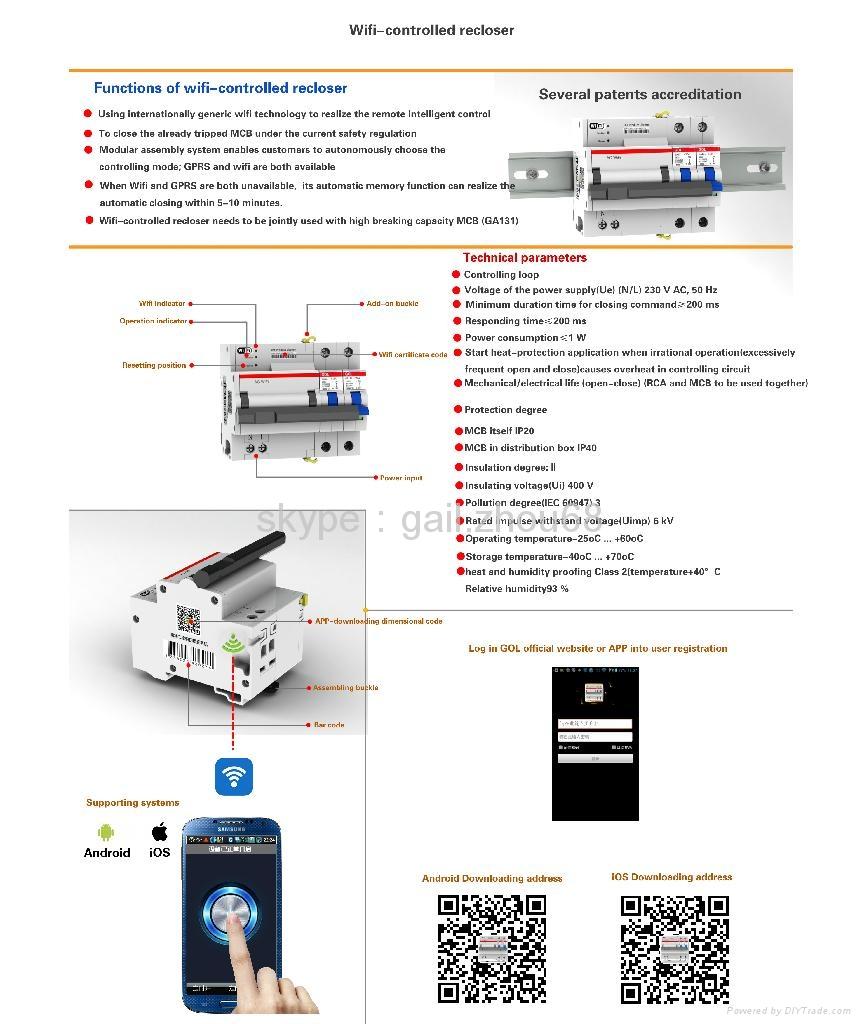 Wifi Controled Recloser Control Circuit Breaker Rccb Irc W Gol 2