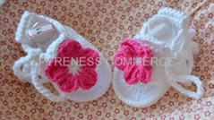 handmade crochet baby shoes (PYBS003)