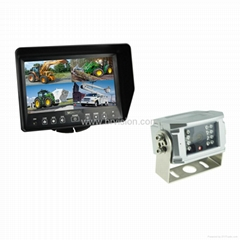 7inch Waterproof LCD moniotor Quad split screen
