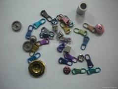 titanium alloy zipper and button