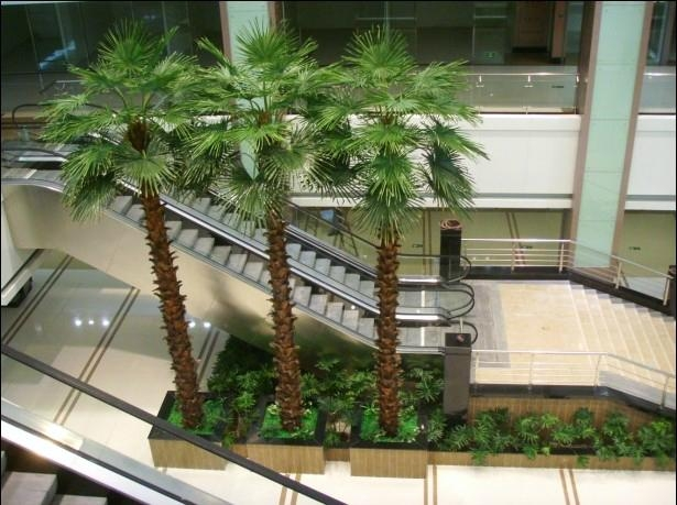 2014 Artificial Washington palm tree fake palm decorate outdoor plant  3