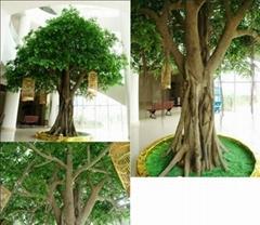 Decorative fake outdoor high imitated artificial banyan ficus tree