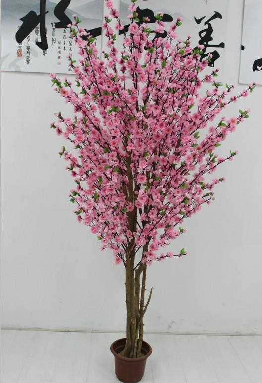 Artificial fake peach blossom tree decoration outdoor and indoor  3