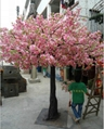 Artificial fake cherry blossom tree decoration outdoor indoor cherry flower 2