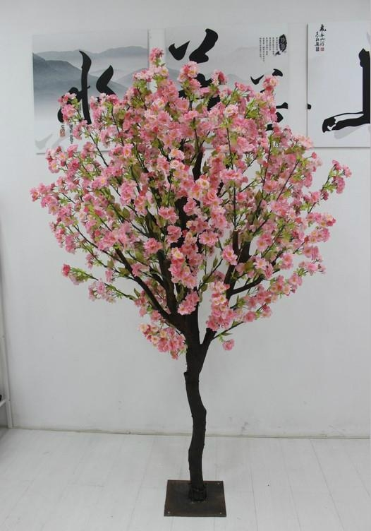 Artificial fake cherry blossom tree decoration outdoor indoor cherry flower 4