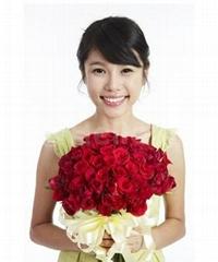 Artificial flower rose bud/single rose wreath/rose balls
