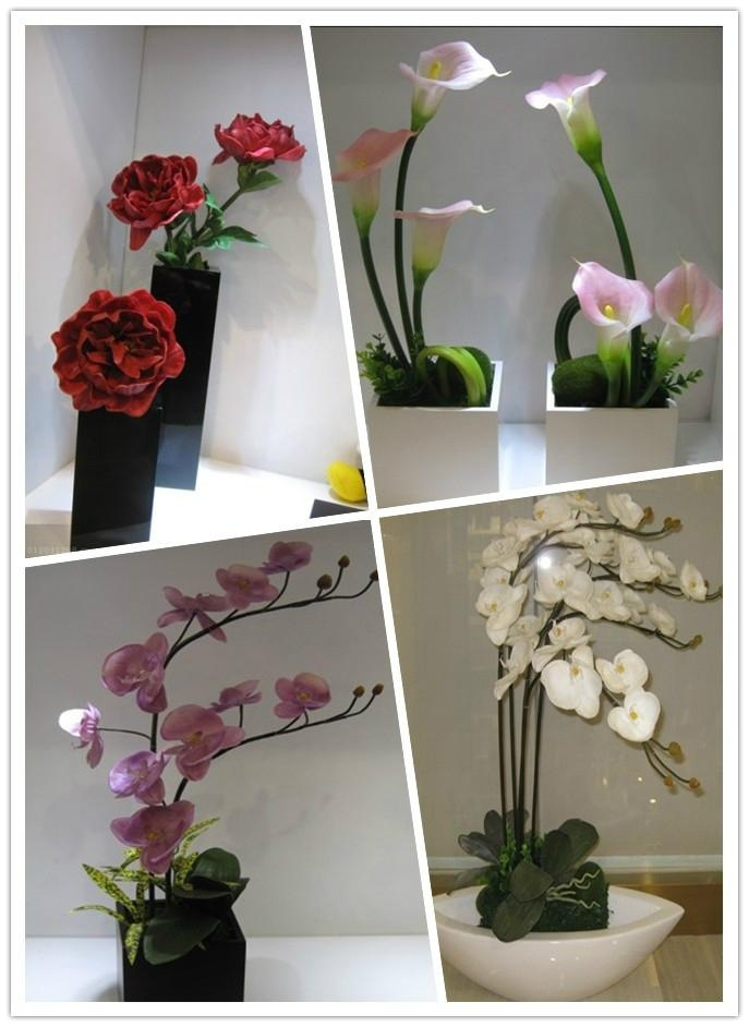 Artificial flower lily orchid for decoration wedding gift fake buds weather 2