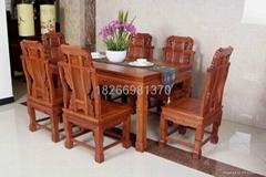 古典紅木餐桌實木餐桌餐廳傢具