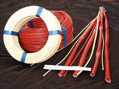 FIBERGLASS SLEEVING COATED WITH SILICONE