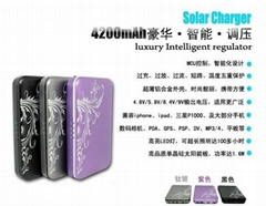 Portable and luxury solar charger with intelligent regulator high quality