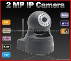 云台网络摄像机 200万像素 P2P即插即用