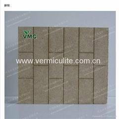Decorative sound insulation wall vermiculite panel