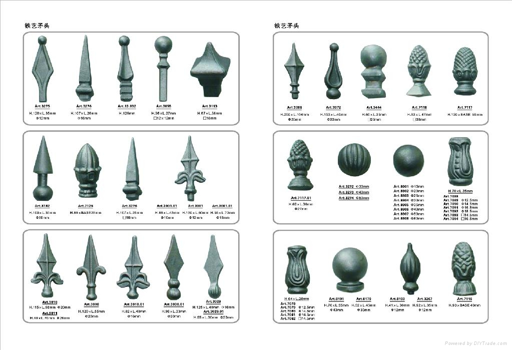 Wrought iron guardrail accessories Cast steel & Wrought iron Ornaments 5