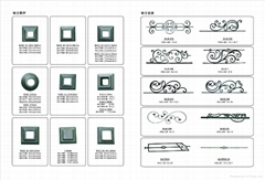 Wrought iron gates& fence decorative accessories iron spear points