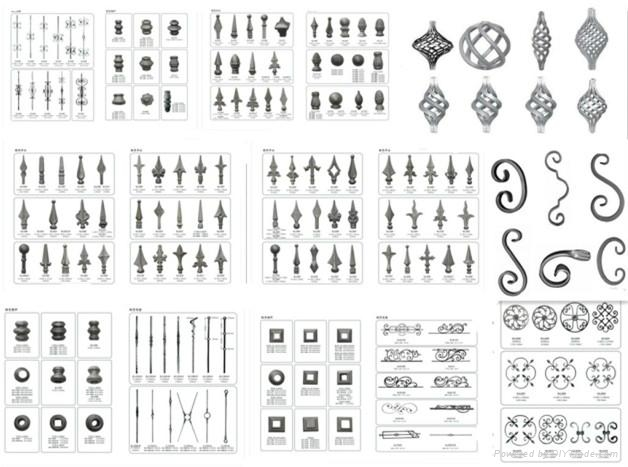 forged  & cast steel ornament accessories for fence&gates 1