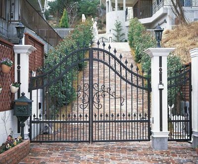 Wrought iron gate &fence design patterns 3