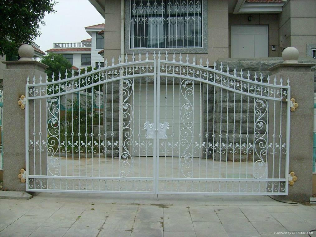 Wrought iron gate fence design patterns qsr