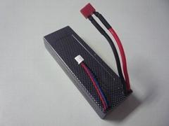 High C Rate 6500mAh 7.4V 25C RC Car Battery
