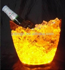 Plastic Ice Bucket With LED Stand for bar/party