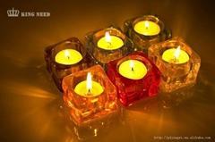 transparent acrylic oblong shape candle holder