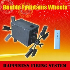 300M remote control system+ Double fountain wheels + special equipments for foun