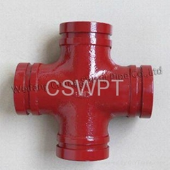 Ductile Iron threaded Pipe Fitting for Fire Protection Mechanical Cross