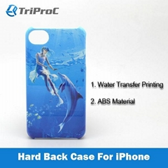 Water Transfer Printing ABS Hard Back Cover Phone Case for Apple iPhone 4 / 4S